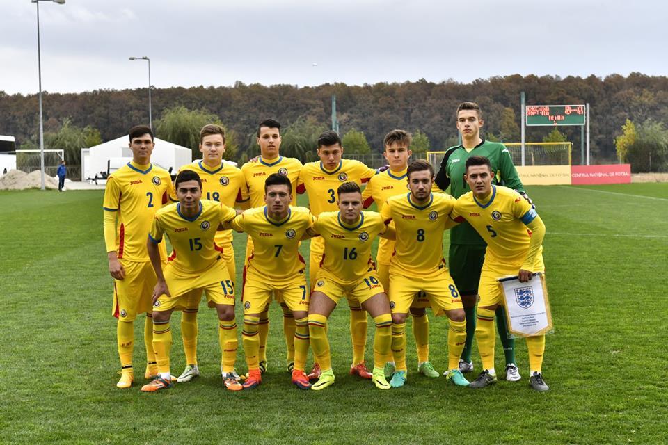 Naționala Under-17 a României, înaintea meciului cu Anglia (0-3) din preliminariile Euro 2017. (FOTO: frf.ro)