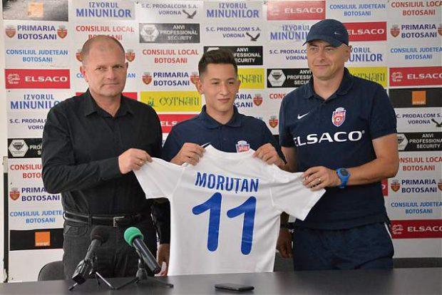 Olimpiu Moruțan, când a fost prezentat la FC Botoșani Foto: Monitorul de Botoșani